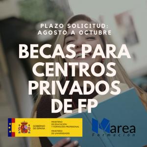 Becas Fp centros privados